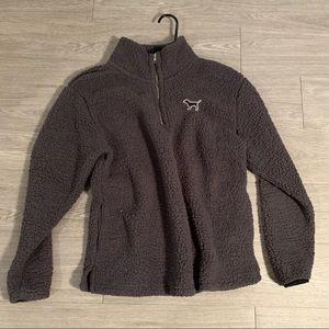 VS Pink Fleece Quarter Zip